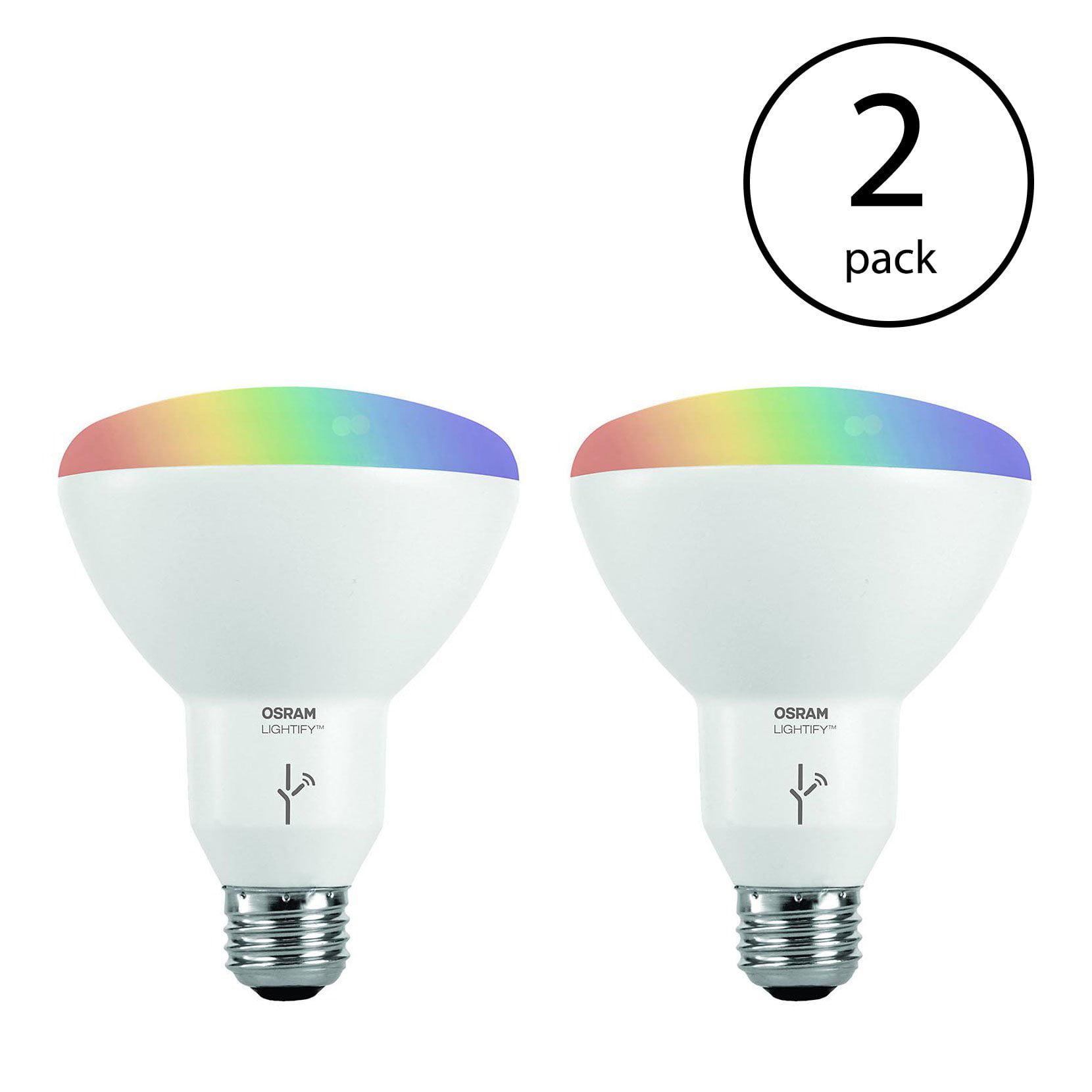 Sylvania Osram Lightify Smart Home 65W BR30 White/Color LED Light Bulb (4 Bulbs)