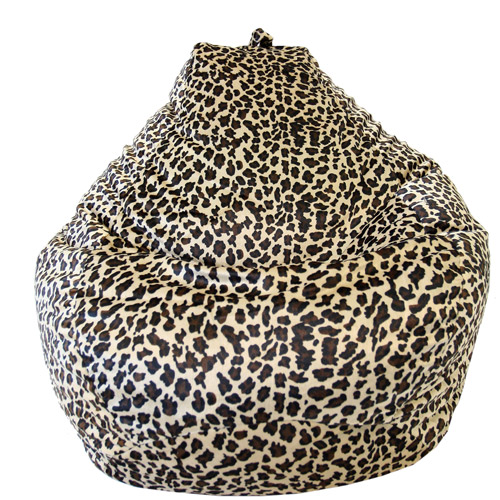 Large Tear Drop Safari Micro-Fiber Suede Bean Bag