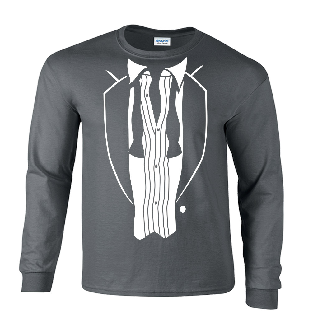 Rat Pack Open Tie Tux Long Sleeve T-Shirt