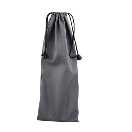 Handheld Bag - PE Drawstring Closure Handheld Monopod Storage Bag Pouch Holder Gray 27cm x 10cm
