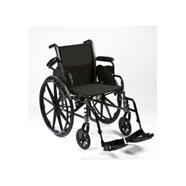 """Roscoe Reliance III Wheelchair, 16"""" Seat with Swing Away Footrests"""
