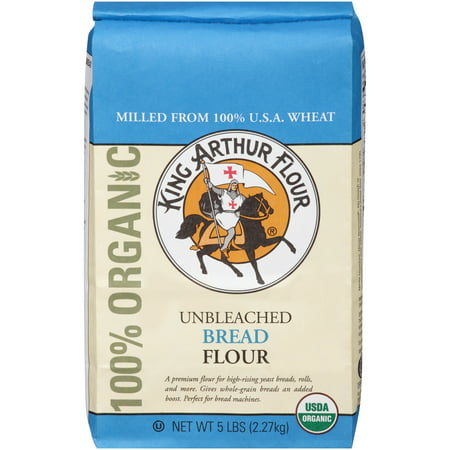 King Arthur Flour Unbleached Bread Flour, 5 LB (Pack of 6) A premium flour for high-rising yeast breads, rolls, and more. Gives whole-grain breads an added boost. Perfect for bread machines. Never bleached, never bromated(R). No bleach or preservatives ever added. America's finest flour since 1790.