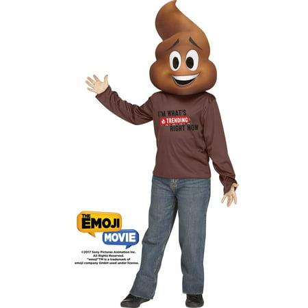 Funny Movie Costume (Poop Jr Emoji Movie Boys Child Funny Halloween)