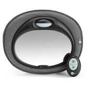 SafeFit Musical Night Light Mirror, Baby Car Mirror, Black