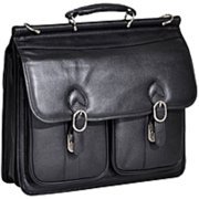 Double Compartment Laptop Case in Brown (Black)
