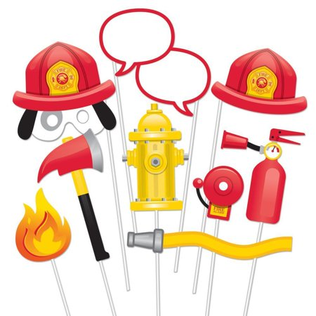 Creative Converting Fire Truck Photo Booth Props, 10 ct](Creative Photo Props)