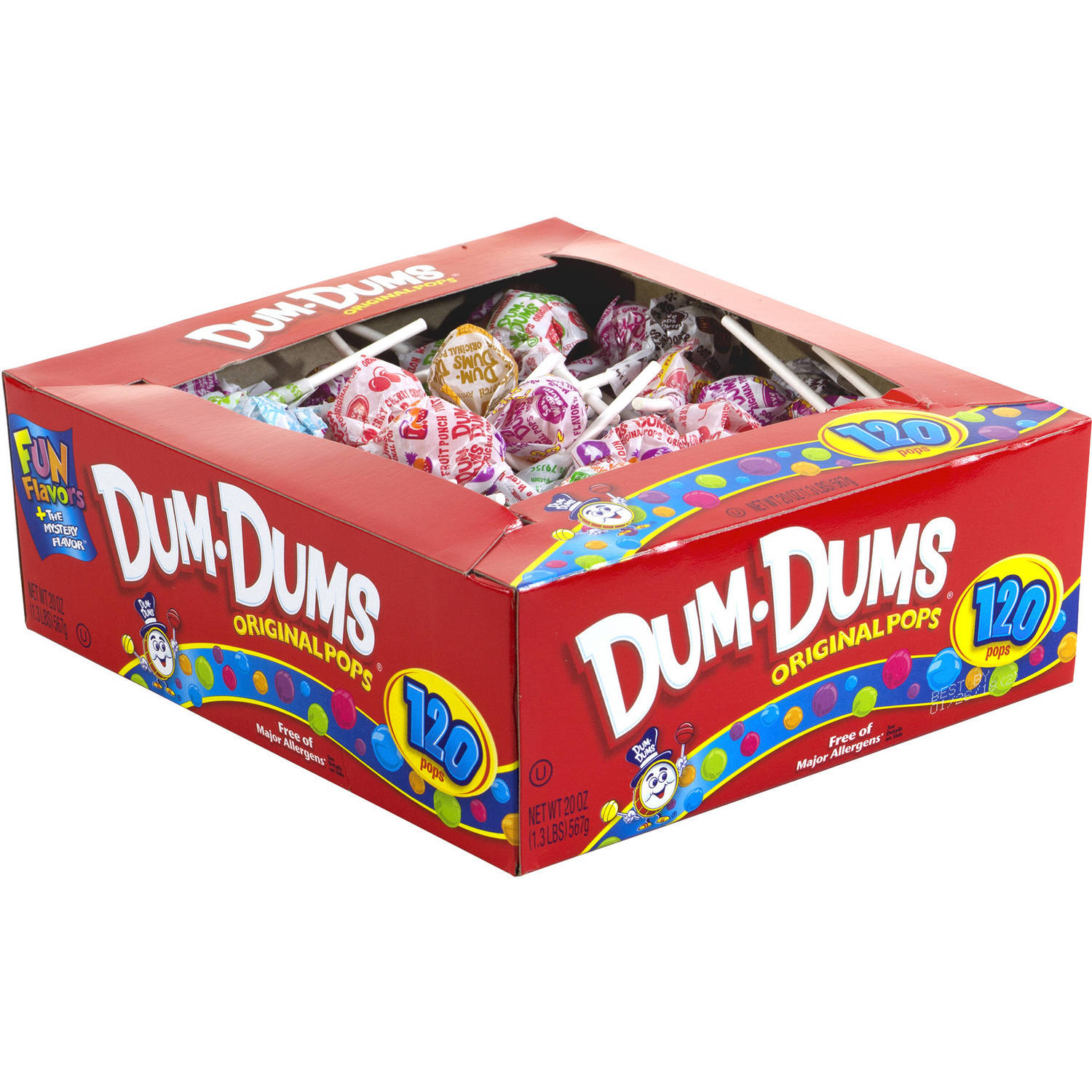 Dum Dums Original Pops Lollipops, 120 count, 20 oz by