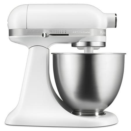 KitchenAid Artisan Mini 3.5 Quart Tilt-Head Stand Mixer, Matte White (KSM3311XFW)