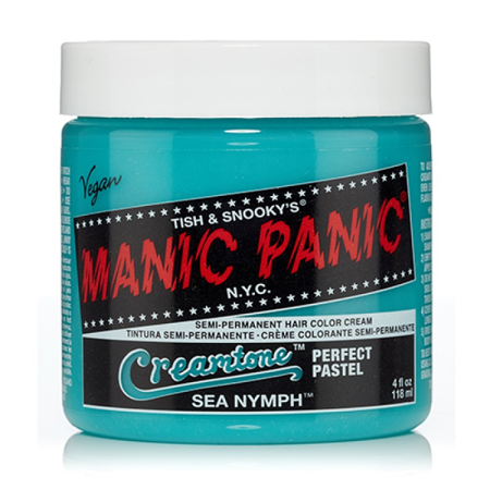 Sea Nymph Manic Panic 4 Oz Hair Dye Creamtones Crazy Colors Cool Hairstyle - 1950s Hairstyles For Long Hair
