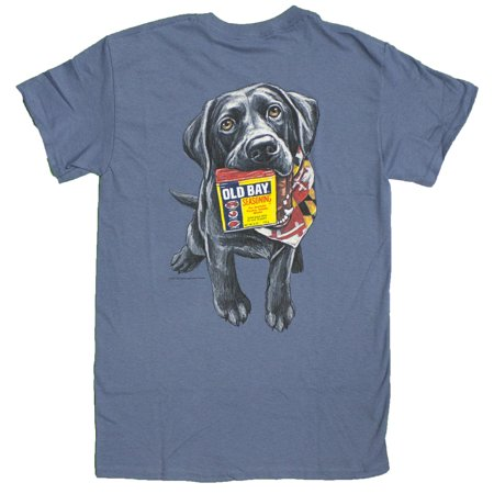 Mens Officially Licensed Old Bay Good Boy W  Labrador T Shirt