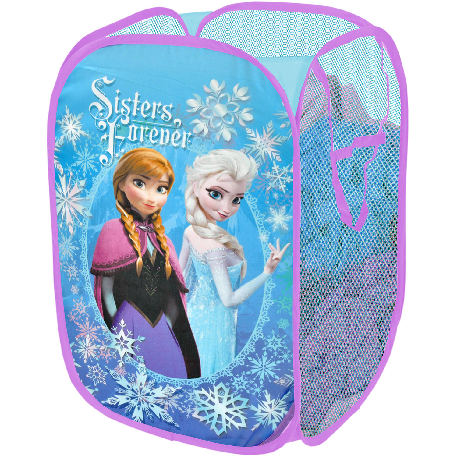 "Disney Frozen ""Sisters Forever"" Collapsible Storage Pop Up Hamper"