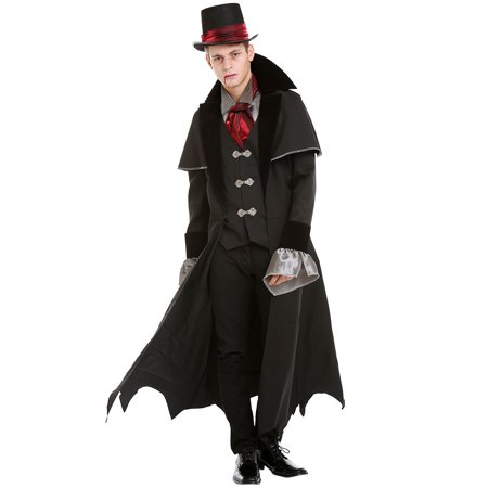 Boo! Inc. Victorian Vampire Halloween Costume for Men | Scary Classic Dracula Dress Up](Scary Hair Ideas For Halloween)