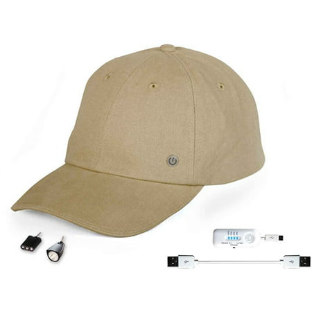PowerGear Cellphone Charging Hat with Attachable LED Lights