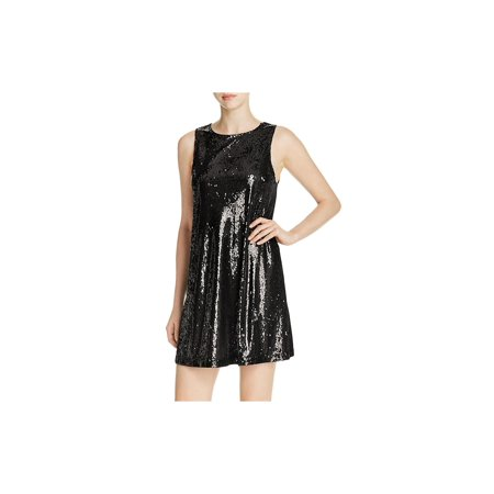 Cupcakes and Cashmere Womens Creston Sequined Keyhole Back Cocktail Dress Draped Open Back Cocktail