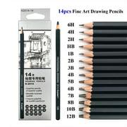 14 Pcs/set Pencils Writing Supplies Office School Supplies Sketch and Drawing Pencil Set