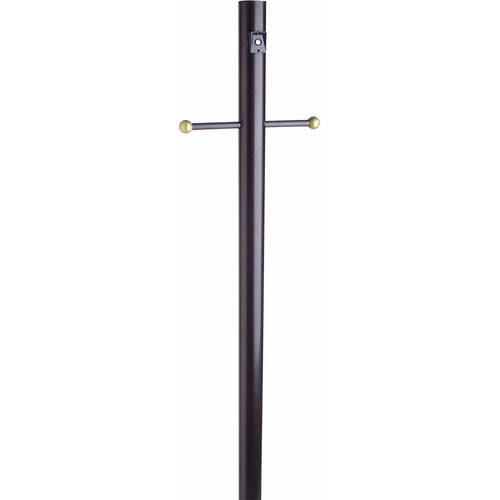 "Design House 502047 Outdoor Lamp Post with Cross Arm and Photo Eye, 80"" x 3\ by Generic"