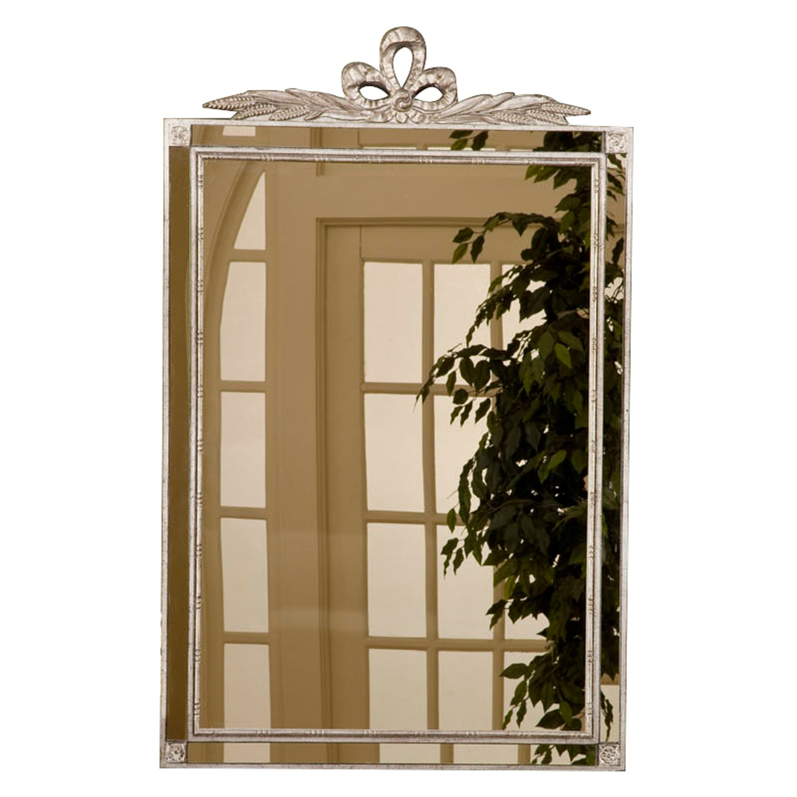 Hickory Manor House Old World Wall Mirror with Side Glass - 20.58W x 32.75H in.