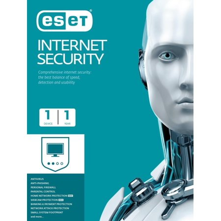 ESET Antivirus with Internet Security - 1 Device, 1 Year - Slim
