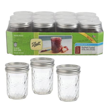 Ball Jelly Jars: Glass, 8 oz, 12 (Matte Finish 8 Oz Jar)