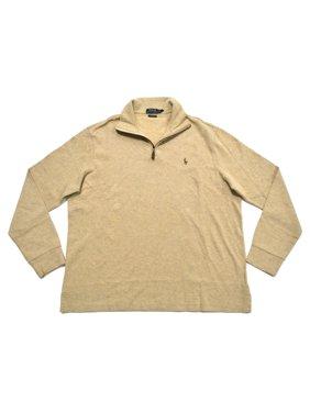 e92669ab8 Product Image Polo Ralph Lauren NEW Beige Mens Small S Estate Rib Quarter  Zip Sweater