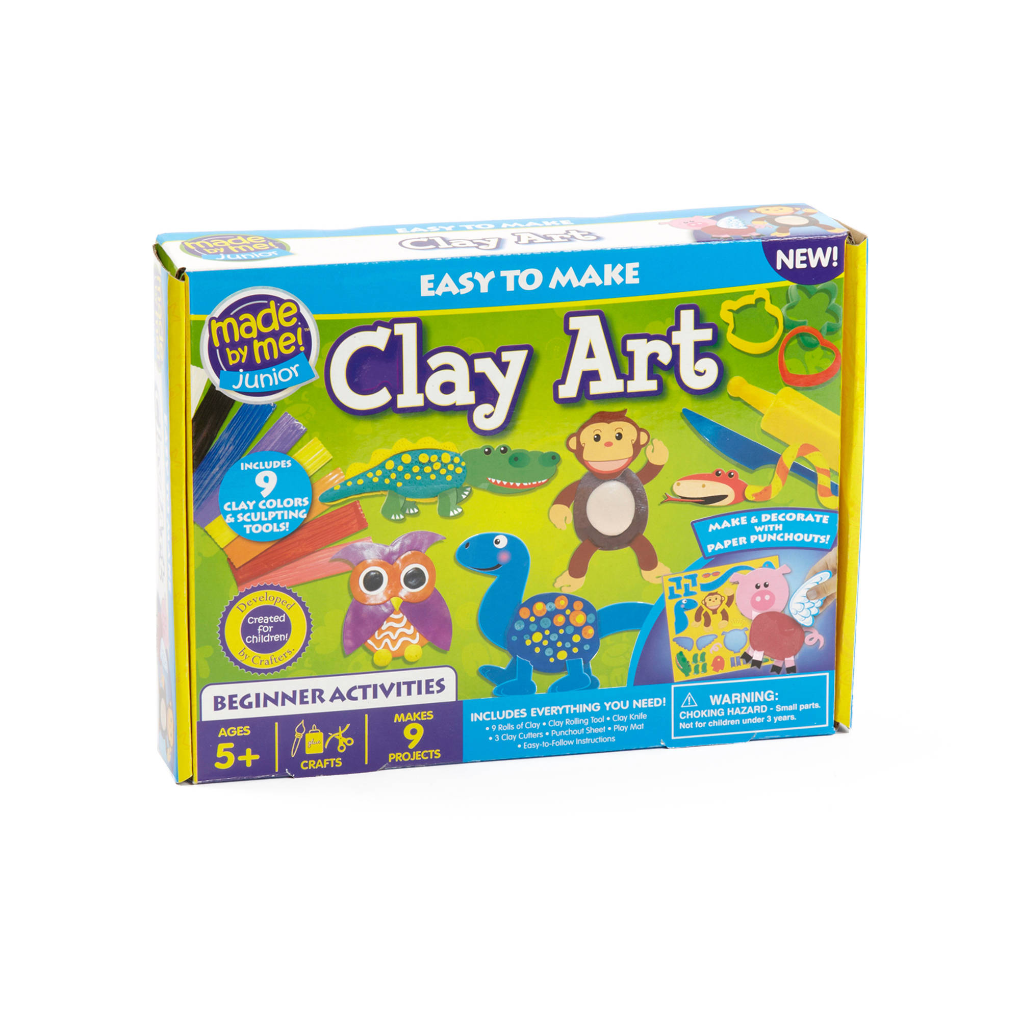 Kids Craft Made by Me Junior Clay Art Kit by Horizon Group USA