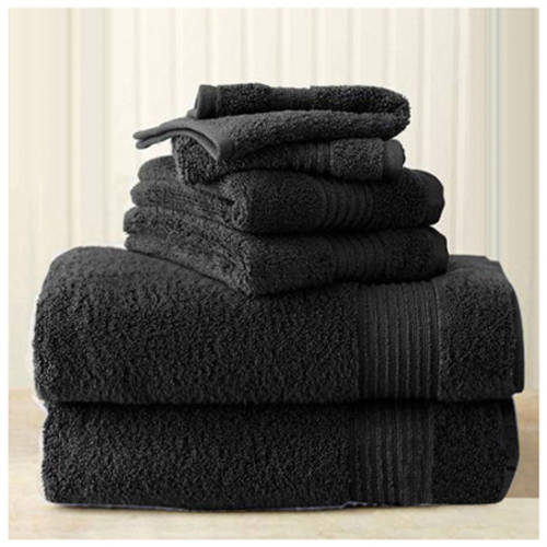 Better Homes and Gardens Extra-Absorbent 6-Piece Towel Set, Rich Black