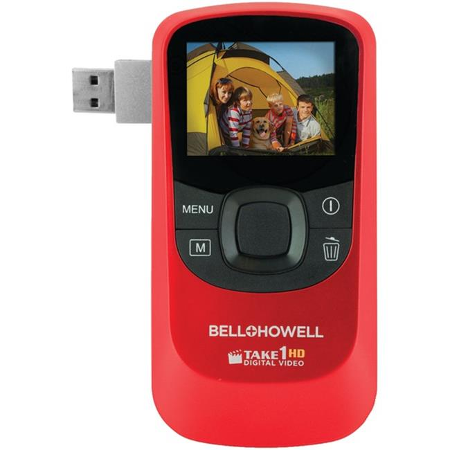 Bell & Howell T10HD-R 5. 0 Megapixel 1080p Take1HD Digital Video Camcorder with Flip-out USB - Red