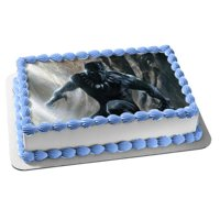 Black Panther Marvel Comics Edible Cake Topper Image