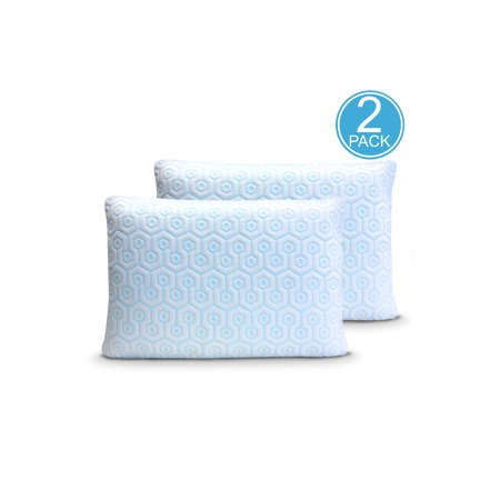 Hydrologie 2PK Cooling Pillow Zipper Covers for sleeping cool with down alternative pillows, memory foam pillows