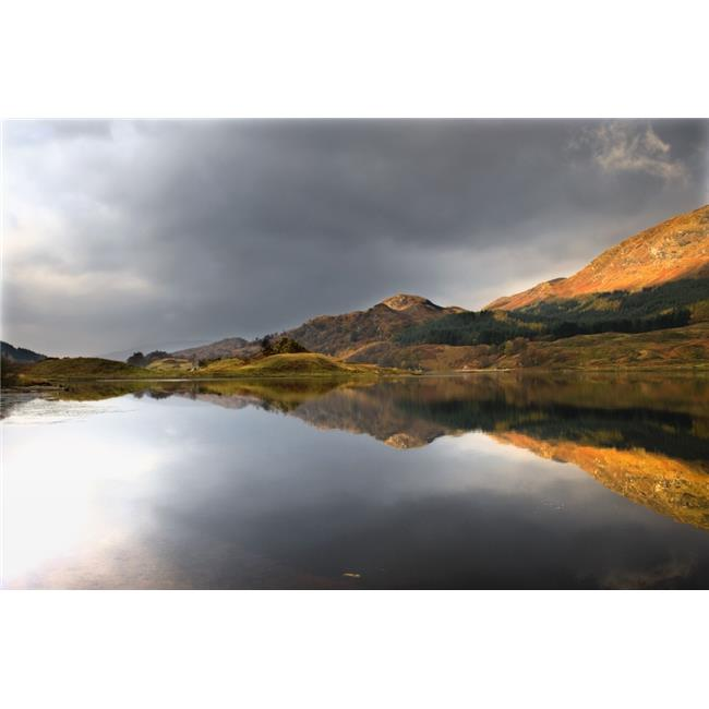 Posterazzi DPI1824140LARGE Mountain Reflection in Water Loch Lobhair Scotland Poster Print by John Short, 34 x 22 - Large - image 1 of 1