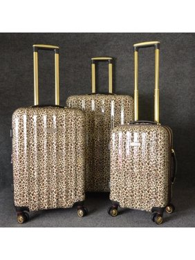 a45dbc434 Product Image Gold Leopard ABS/Polycarbonate 3-piece Hardside Spinner Luggage  Set