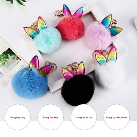 Plush Toys Hanging Cute Bag Furry Hanging Animals Cute Plush Keychains Hair Ball Keychains Pendant Bag Accessories - image 4 of 5