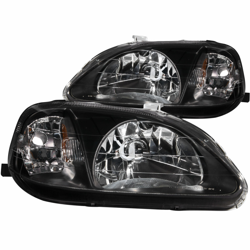 AnzoUSA 121366 Chrome//Clear Halogen Projector Headlight for Mitsubishi Eclipse