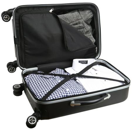 NFL Mojo Hardcase Spinner Carry On Suitcase  - Black