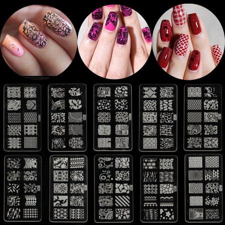 DANCINGNAIL 1PC Nail Art Polish Manicure Image Stamping Template Plate Scraper DIY Manicure Kit