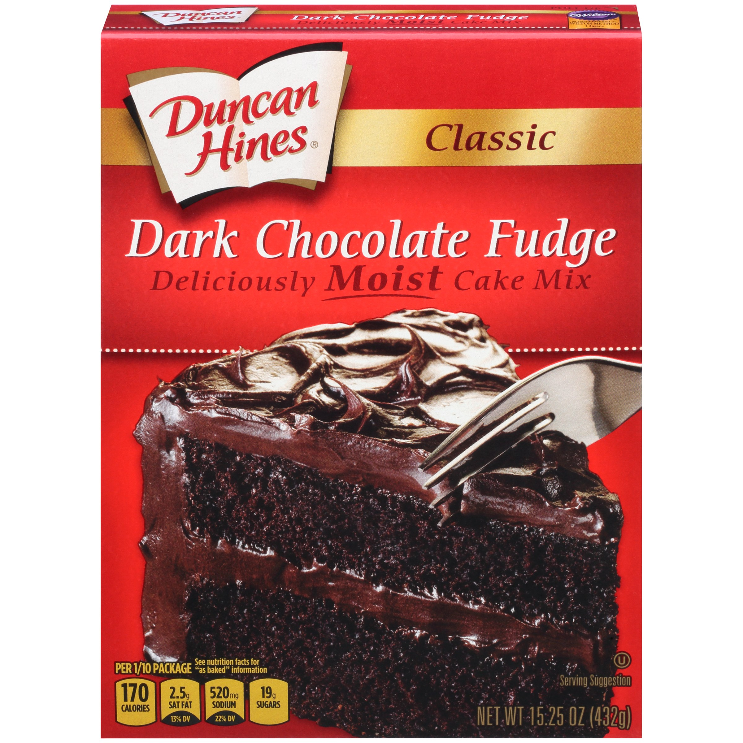6de31bd70c38 (2 pack) Duncan Hines Classic Dark Chocolate Fudge Cake Mix 15.25 oz -  Walmart.com