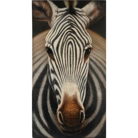 Amazingly Designed Zebra Print Portrait, (Zebra Print Design)