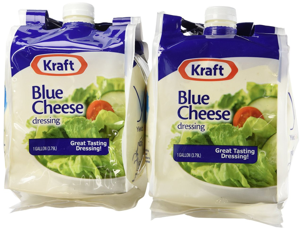 4 PACKS : Kraft Brand Dressing Blue Cheese Liquid 1 gallon, 2 Count by