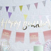 Ginger Ray Gold Foiled Happy Birthday Bunting