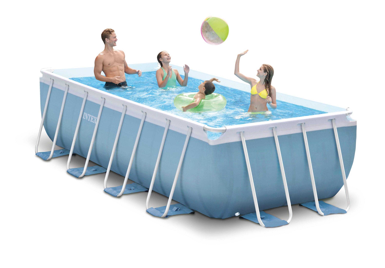 Intex 16 Feet X 8 42 Inches Prism Frame Rectangular Swimming Pool Set