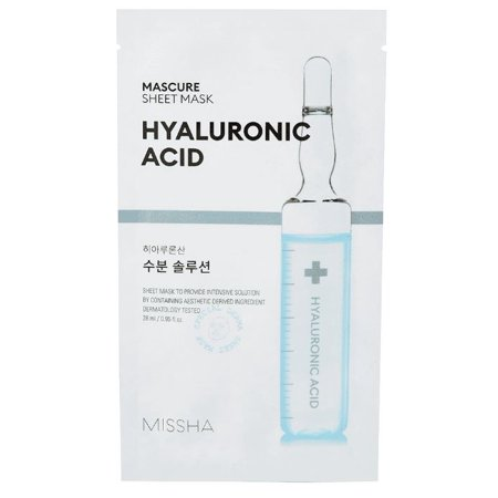 MISSHA Mascure Hydra Solution Sheet Mask, Hyaluronic