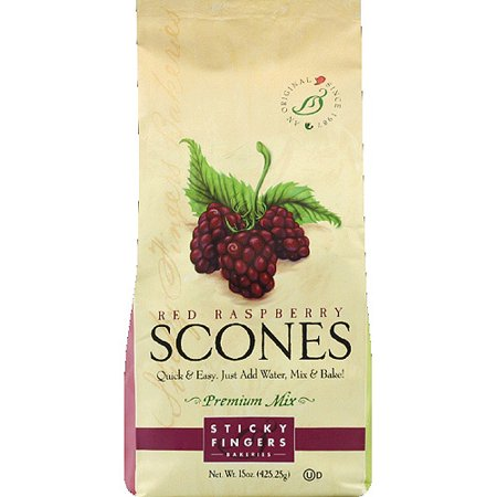 Sticky Fingers Bakeries Red Raspberry Scones Premium Mix, 15 oz, (Pack of 6)