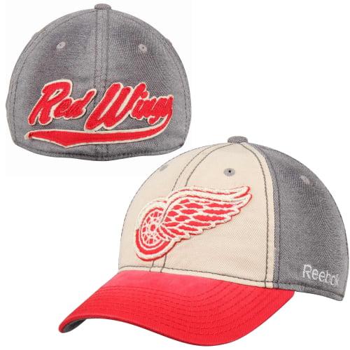 Detroit Red Wings Reebok Slouch Flex Hat - Gray - L/XL