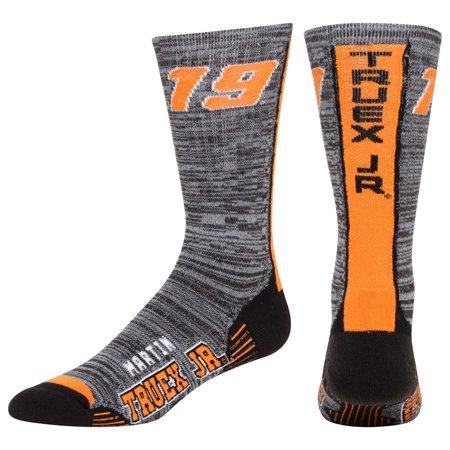 Martin Truex Jr For Bare Feet Team Vortex Socks - Charcoal - Men - Vortex Socks