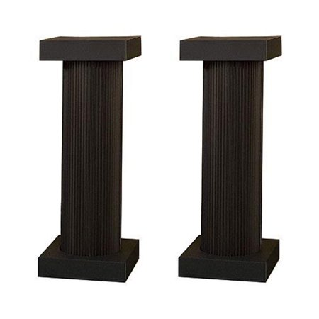 4 ft. Black Fluted Pedestal Pair