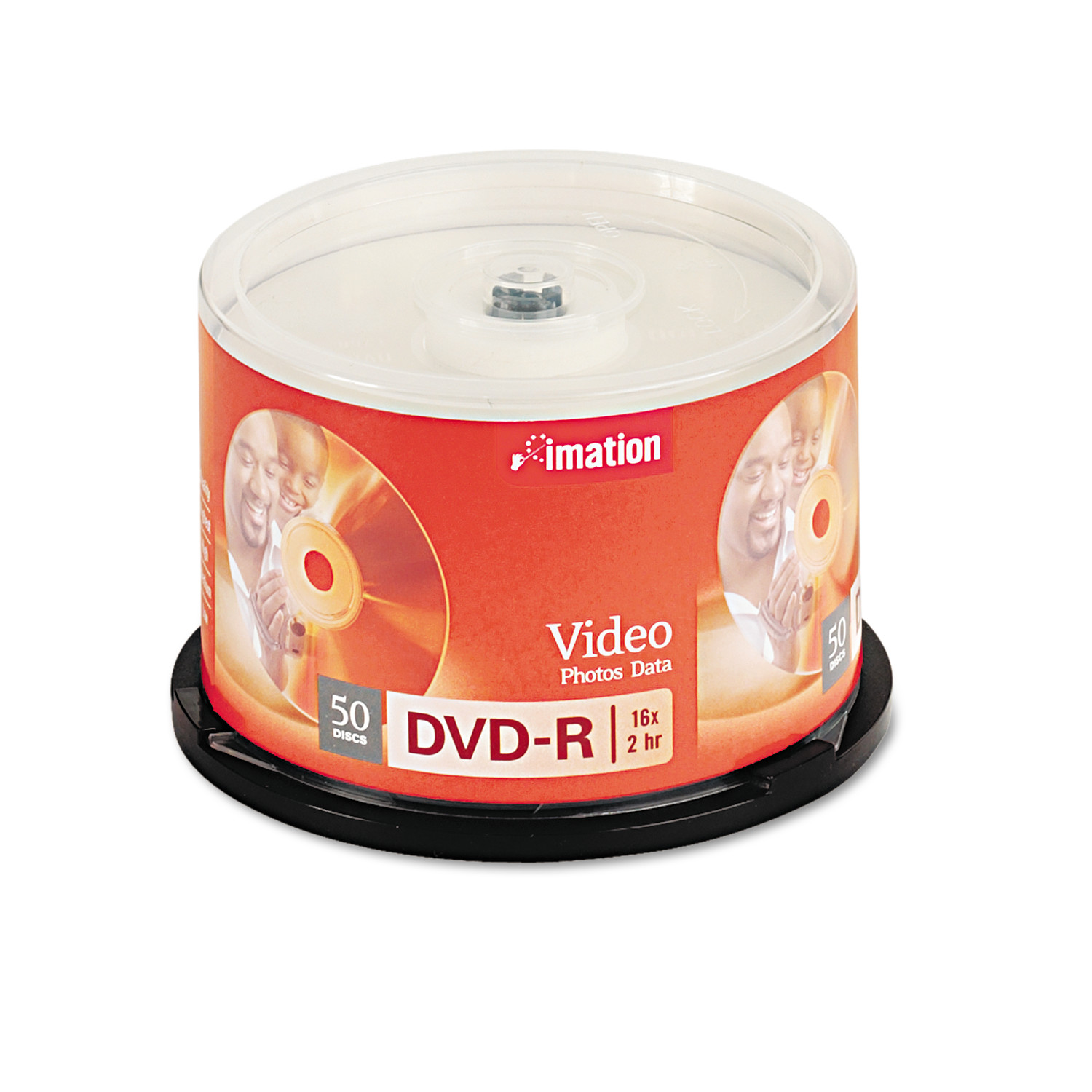 imation DVD-R Discs, 4.7GB, 16x, Spindle, Silver, 50/Pack