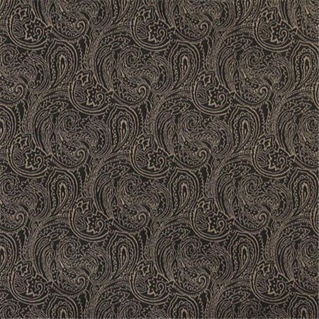 Designer Fabrics B633 54 In Wide Black 44 Traditional Paisley Jacquard Woven Upholstery