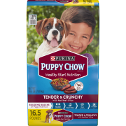 Purina Puppy Chow High Protein Dry Puppy Food, Tender & Crunchy with Real Beef, 16.5 lb. Bag