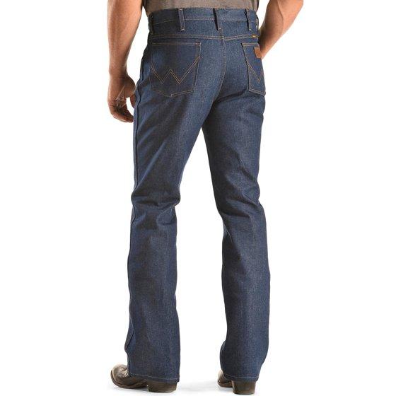 8a60cd61 wrangler - wrangler men's jeans 935 slim fit rigid boot cut - 0935nav -  Walmart.com