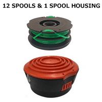 "Spool Kit for Black & Decker Grass Hog XP, 14"" String Trimmer, GH1000 Type 4 + 12 Line Spools"